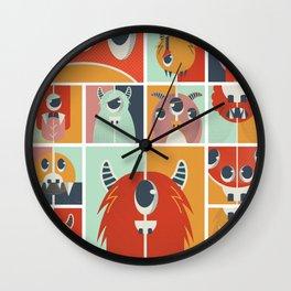 Cute Monsters Wall Clock
