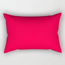 Torch Red Colour Rectangular Pillow