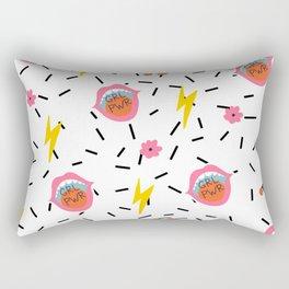 Girl Power print Rectangular Pillow