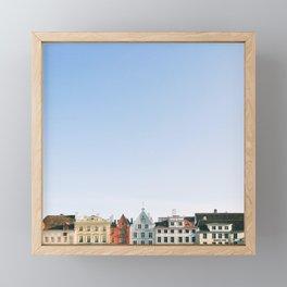 Toy Houses | ArchiMinimal Framed Mini Art Print