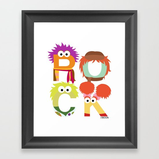 "A Fraggle ""ROCK"" Framed Art Print"