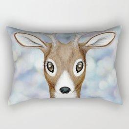 white-tailed deer woodland animal portrait Rectangular Pillow
