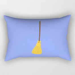 Witches broom for halloween Rectangular Pillow