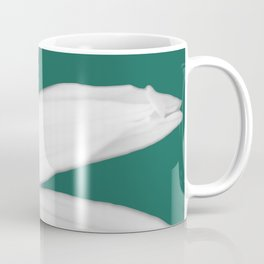 White Maximilian on Green Coffee Mug