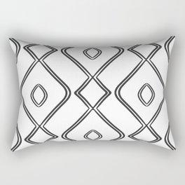 Modern Boho Ogee in Black and White Rectangular Pillow