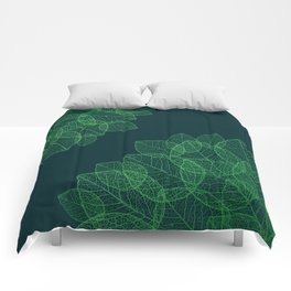 Dry Leaves - Green Comforters