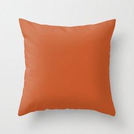 Colors of Autumn Maple Leaf Dark Orange Solid Color Throw Pillow