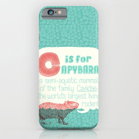 C is for Capybara iPhone & iPod Case