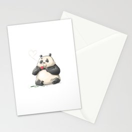 Panda Loves Coffee Stationery Cards