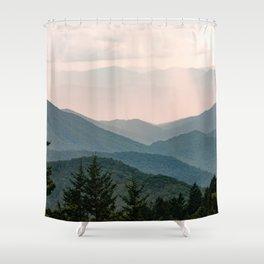 Smoky Mountain Pastel Sunset Shower Curtain