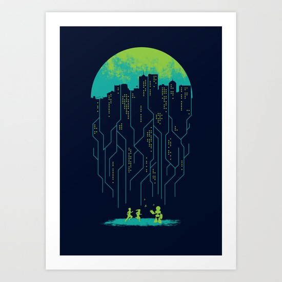 city of future Art Print