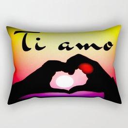 Ti amo in popart Rectangular Pillow