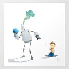 Steambot Bowling Art Print