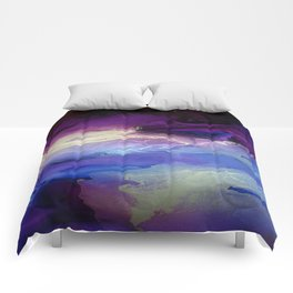 Pour your art out in lilac Comforters