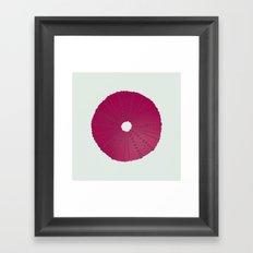 Sea's Design - Urchin Skeleton (Deep Pink) Framed Art Print