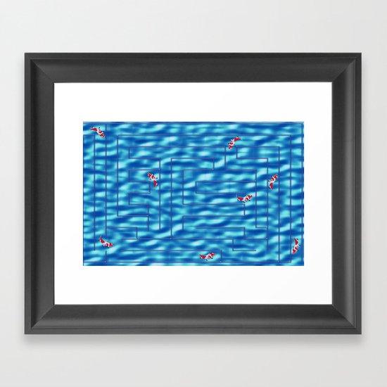 Fish in a maze Framed Art Print