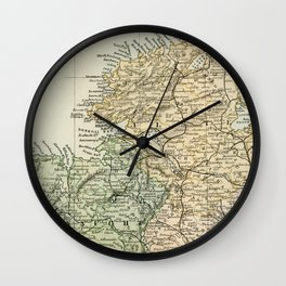 Encyclopedia Retro Map of Northern Ireland Wall Clock