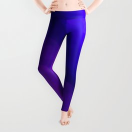 Deep Dark Abyss - Ultra Violet Ombre Abstract Leggings