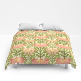 King Protea Flower Pattern - yellow Comforters