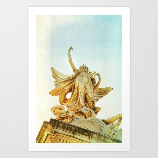 sister golden hair Art Print