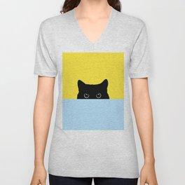 Kitty Unisex V-Neck