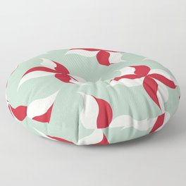 Pinwheels in Christmas Peppermint Floor Pillow