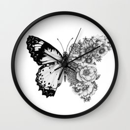 Butterfly in Bloom Wall Clock