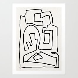Abstract line art Art Print