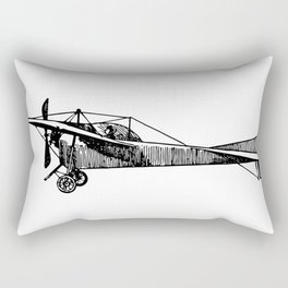 Old Airplane Sideview Detailed Illustration Rectangular Pillow