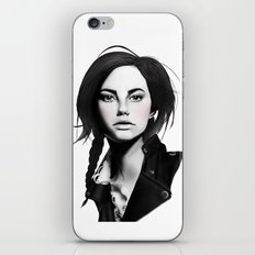 Fashion Illustration - Leather Jacket iPhone & iPod Skin