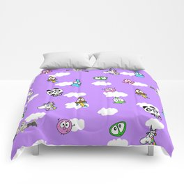 Purple skies Comforters