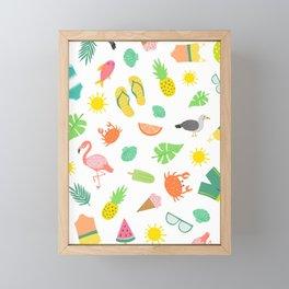 Summer Fun Framed Mini Art Print