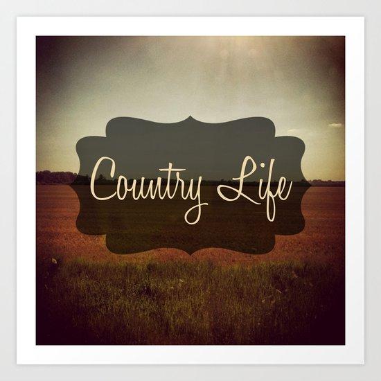 Country Life Art Print