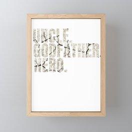 Uncle T Shirt Cool godfather hero family gift Framed Mini Art Print