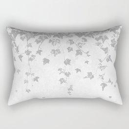 Soft Silver Gray Trailing Ivy Leaf Print Rectangular Pillow