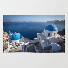 Blue Domes of Santorini Rug