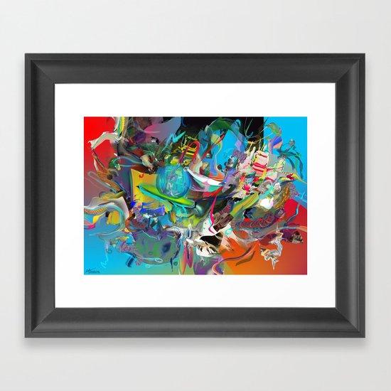 Microcrystalline Tendrils Framed Art Print