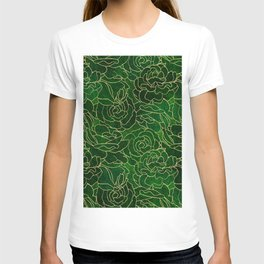 ABSTRACT FLORAL 3 T-shirt