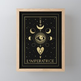L' Imperatrice or The Empress Tarot Gold Framed Mini Art Print