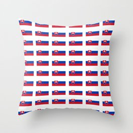 flag of slovakia -,Slovak,Slovensko,Eslovaquia,eslovaco, Czechoslovakia, Bratislava, Košice Throw Pillow