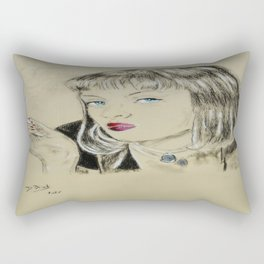 Uma Thurman Rectangular Pillow