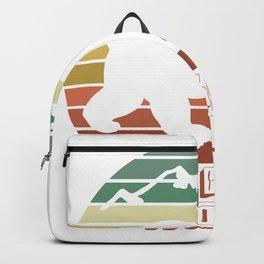 Jackson Hole Wyoming Bear Sunset Retro Gifts Backpack