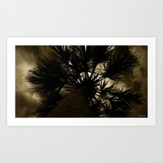 Palm Reaching To The Storm Art Print