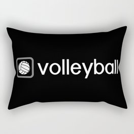 Volleyball (Grey) Rectangular Pillow