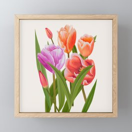 Colorful Flower Bouqet Painting Framed Mini Art Print