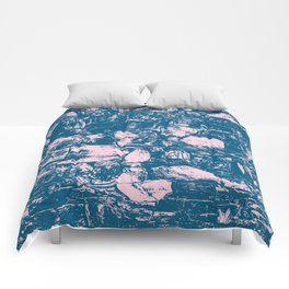 Abstract Pink Blue Comforters