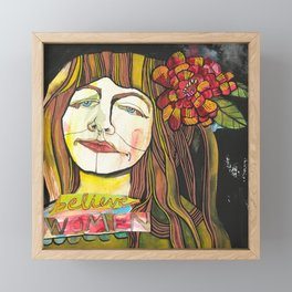 BELIEVE WOMEN Framed Mini Art Print