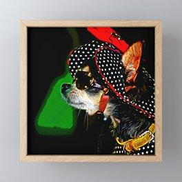 classy chihuahua dog lady vector art Framed Mini Art Print