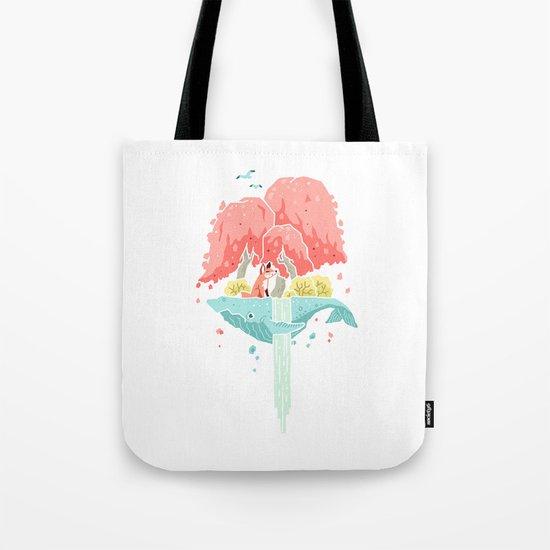 Whale Island Tote Bag