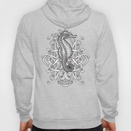 Seahorse and Curlicues Hoody